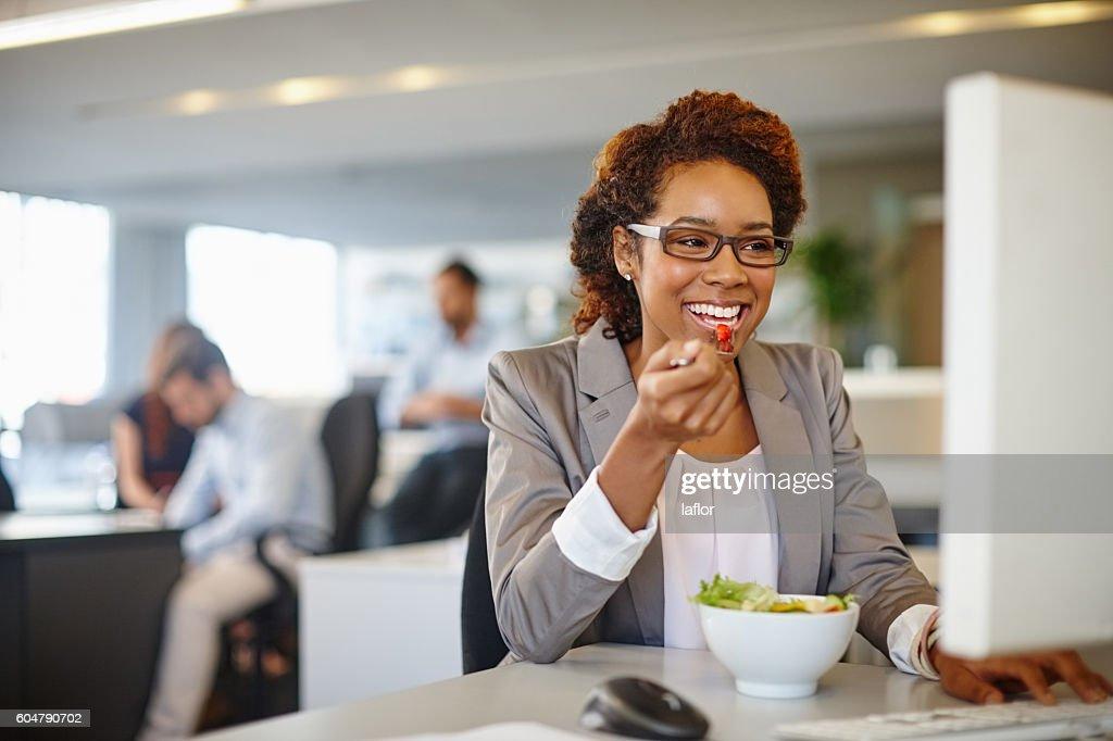 Eat good, work good : Stock Photo