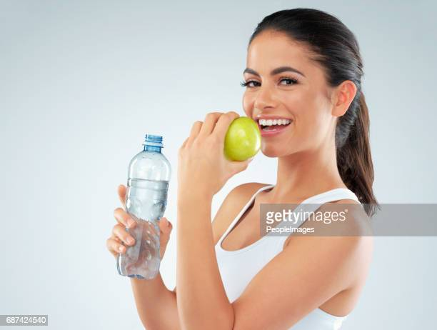 eat healthy. your body is worth it - lap body area stock photos and pictures