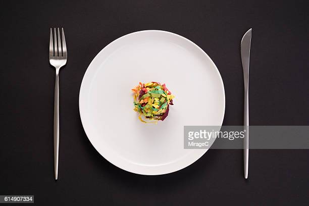eat inspiration eat colorful - empty paper plate stock photos and pictures