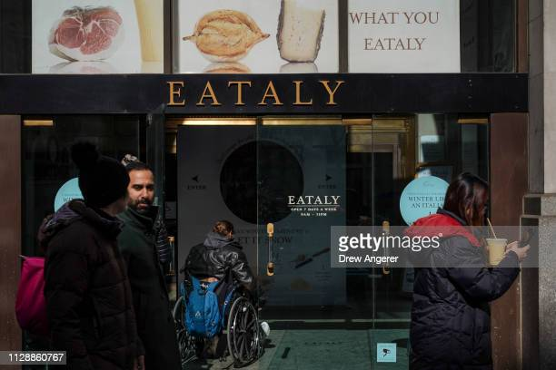 Eataly, a 50,000 square-foot emporium devoted to the food and culinary traditions of Italy, stands in the Flatiron District, March 6, 2019 in New...