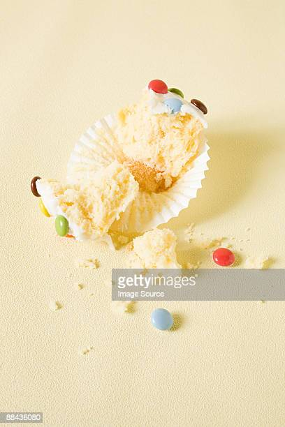 Eaten cup cake