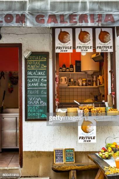 Eatery in Tkalčićeva Street in Zagreb, Croatia