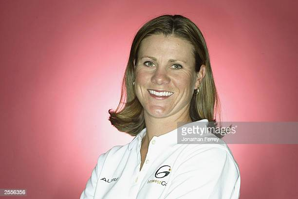 J Eathorne poses for a portrait before the start of the LPGA Safeway Classic at Columbia Edgewater Country Club on September 25 2003 in Portland...