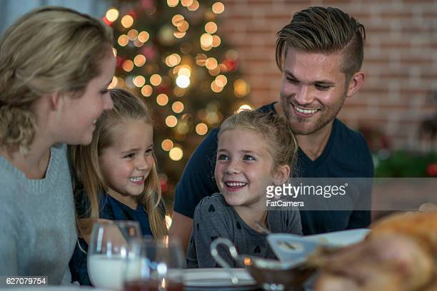 Eating a Christmas Feast