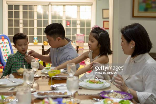 eating at home. - daily life in philippines stock pictures, royalty-free photos & images