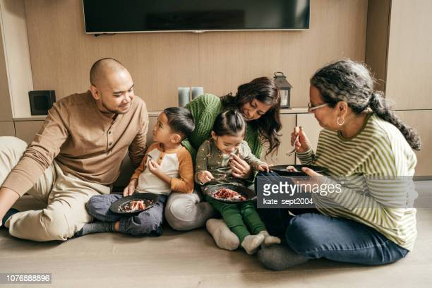 eating cake together - happy birthday canada stock pictures, royalty-free photos & images