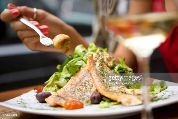 Essen Lachs-Salat