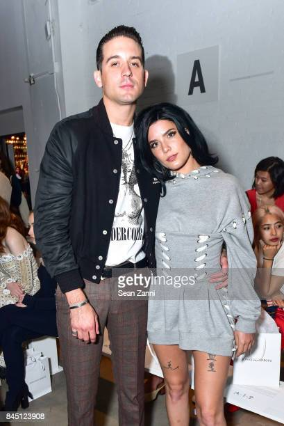 Eazy and Halsey attend the Jonathan Simkhai fashion show during New York Fashion Week The Shows at Gallery 1 Skylight Clarkson Sq on September 9 2017...