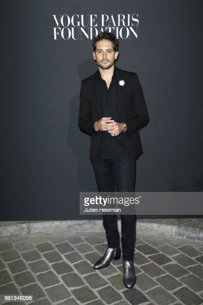 Eazy attends Vogue Foundation Dinner Photocall as part of Paris Fashion Week Haute Couture Fall/Winter 20182019 at Musee Galliera on July 3 2018 in...