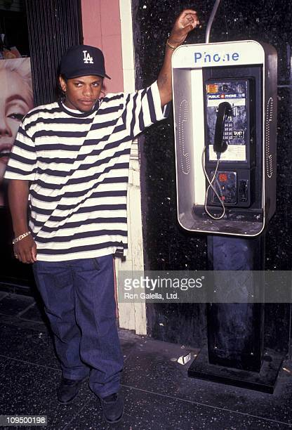 EazyE attends the premiere party for 'Bill and Ted's Bogus Journey' on July 18 1991 at the Hollywood Palladium in Hollywood California