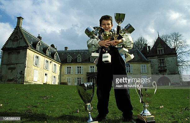 Baccrot who is 10 years old is prodigy of chess in Mericourt/Somme, France on March 10, 1993.