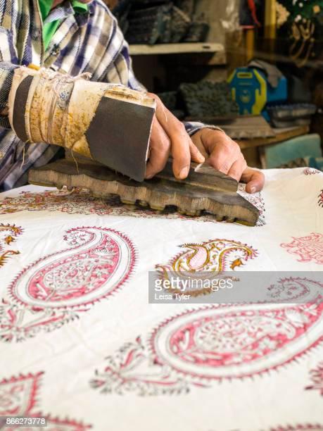 Ebadi Qalamkar workshop a block print workshop in Esfahan old town Known locally as qalamkar