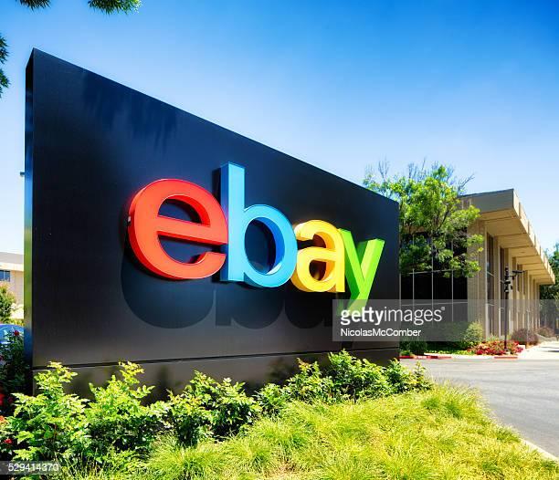Ebay campus entrance sign San Jose California