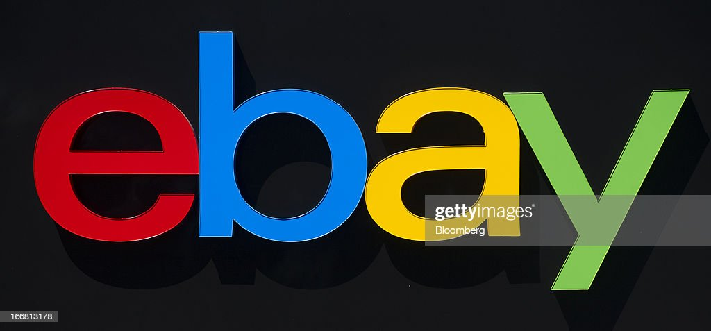 EBay Inc. signage is displayed at the company's headquarters in San Jose, California, U.S., on Tuesday, April 16, 2013. Ebay Inc. is expected to release earnings data on April 17. Photographer: David Paul Morris/Bloomberg via Getty Images