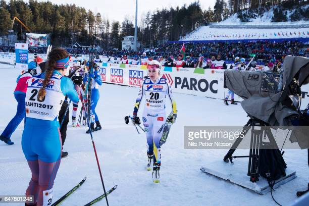 Ebba Andersson of Sweden during the women's cross country mass start during the FIS Nordic World Ski Championships on March 4, 2017 in Lahti, Finland.