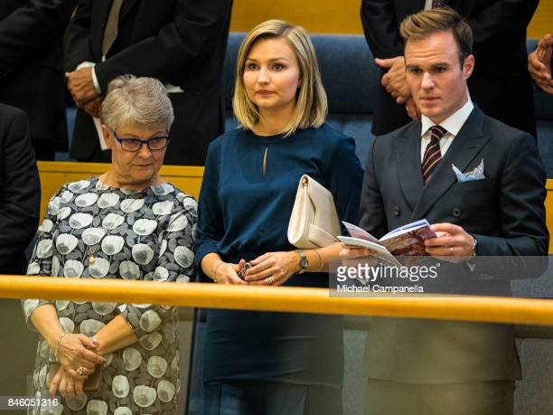 Ebba Busch Thor attends the opening of the Parliamentary session on September 12 2017 in Stockholm Sweden