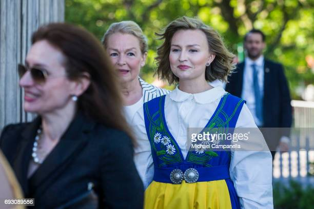 Ebba Busch Thor leader of Christian Democrats party during the national day celebrations at Skansen on June 6 2017 in Stockholm Sweden
