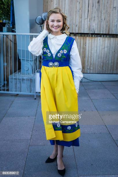 Ebba Busch Thor, leader of Christian Democrats party, during the national day celebrations at Skansen on June 6, 2017 in Stockholm, Sweden.