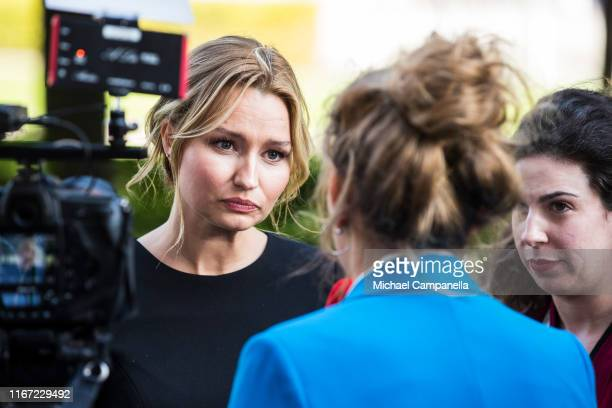 Ebba Busch Thor, leader of the Swedish Christian Democrats, arrives at the Swedish Parliament House for the opening of the new parliamentary session...