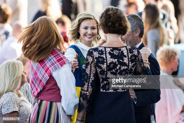 Ebba Busch Thor, leader of the Swedish Christian Democrats party during the national day celebrations at Skansen on June 6, 2017 in Stockholm, Sweden.