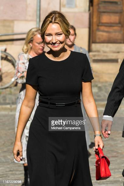 Ebba Busch Thor of the Swedish Christian Democrats attends a church ceremony in connection with the opening of the Parliamentary session at the...