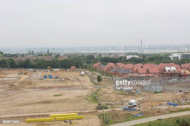 Ebbsfleet Garden City where new homes are being built in Castle Hill area on 09th July 2016 in Kent United Kingdom Ebbsfleet Development Corporation...