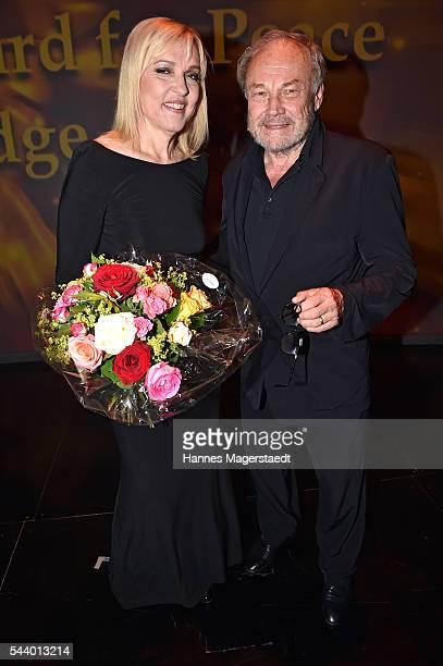 EBeate Merk and Klaus Maria Brandauer attend the Bernhard Wicki Award during the Munich Film Festival 2016 at Cuvilles Theatre on June 30, 2016 in...