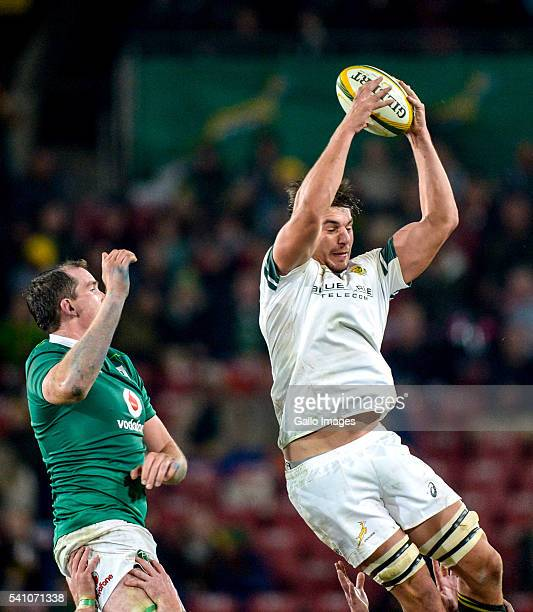 Eben Etsebeth of the Springboks and Iain Henderson of Ireland during the 2nd Castle Lager Incoming Series Test match between South Africa and Ireland...