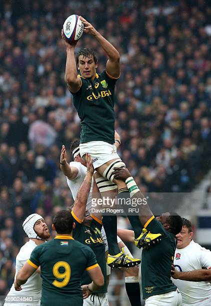 Eben Etzebeth of South Africa during the QBE Intenational match between England and South Africa at Twickenham Stadium on November 15 2014 in London...