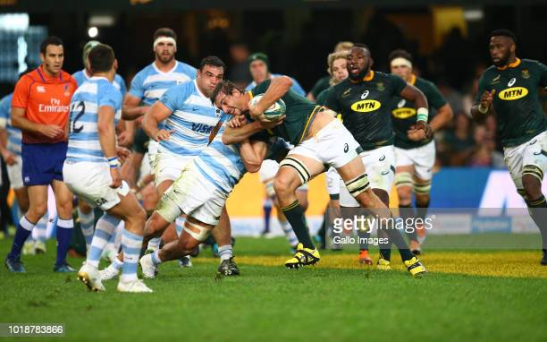 Eben Etzebeth of South Africa during the Rugby Championship match between South Africa and Argentina at Jonsson Kings Park on August 18 2018 in...