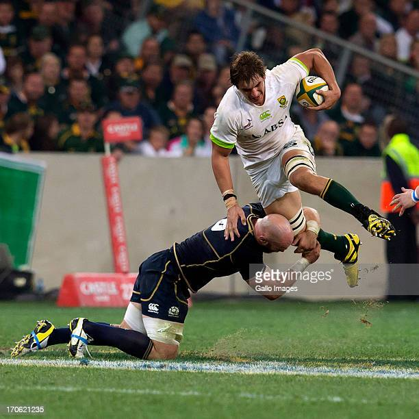 Eben Etzebeth of South Africa in action during the Castle Larger Incoming Tour match between South Africa and Scotland at Mbombela Stadium on June 15...