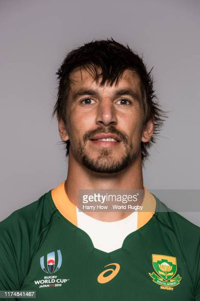 Eben Etzebeth of South Africa poses for a portrait during the South Africa Rugby World Cup 2019 squad photo call on September 15 2019 in Tokyo Japan