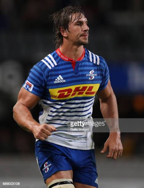 Eben Etzebeth of the DHL Stormers during the Super Rugby match between Cell C Sharks and DHL Stormers at Growthpoint Kings Park on May 27 2017 in...