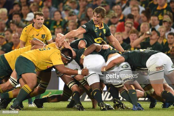 Eben Etzebeth of the Springboks during the Rugby Championship 2017 match between South Africa and Australia at Toyota Stadium on September 30 2017 in...