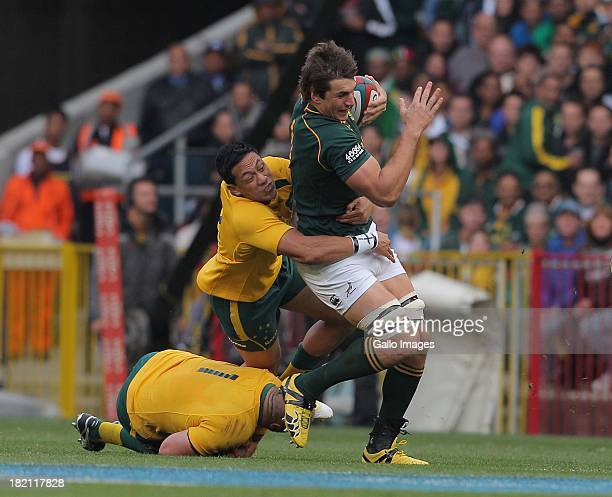 Eben Etzebeth of the Springboks in action during The Rugby Championship match between South Africa and Australia at DHL Newlands on September 28 2013...