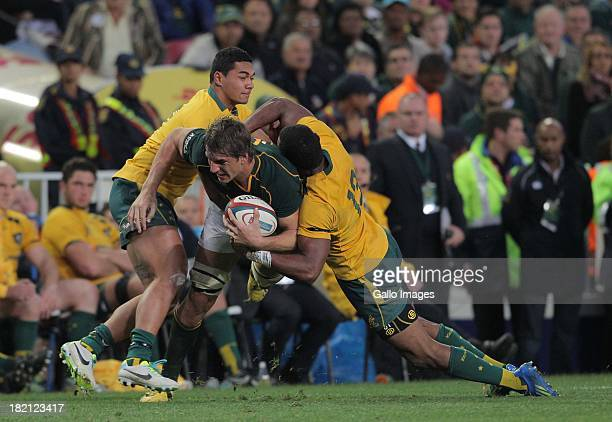 Eben Etzebeth of the Springboks in action during The Rugby Championship match between South Africa and Australia at DHL Newlands Stadium on September...