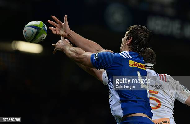 Eben Ezebeth of the Stormers during the Super Rugby Quarter Final match between the DHL Stormers and Chiefs at DHL Newlands on July 23 2016 in Cape...