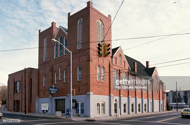 Ebenezer Baptist Church stands on an intersection of Auburn Avenue in Atlanta's African American community Martin Luther King Sr was the pastor for...