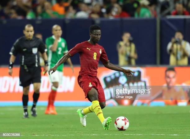 Ebenezer Ofori of Ghana kicks the ball during the friendly match between Mexico and Ghana at NRG Stadium on June 28 2017 in Houston Texas
