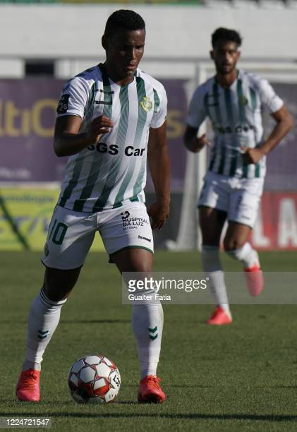 Eber Bessa of Vitoria FC in action during the Liga NOS match between Vitoria FC and FC Pacos de Ferreira at Estadio do Bonfim on July 4, 2020 in...