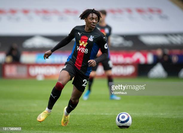 Eberechi Eze of Crystal Palace in action during the Premier League match between Sheffield United and Crystal Palace at Bramall Lane on May 8, 2021...