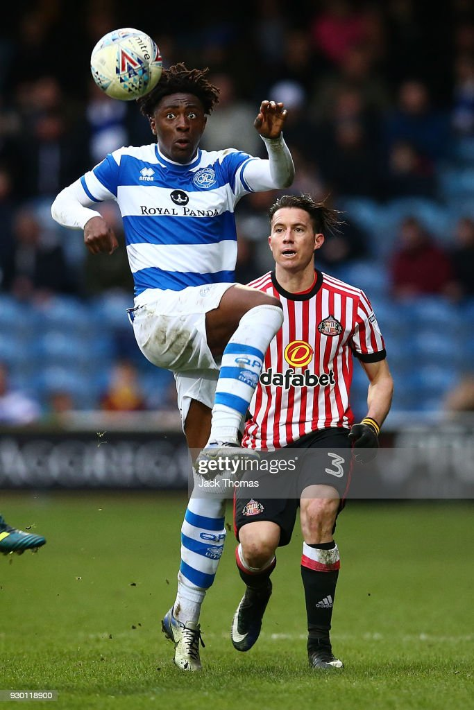 Eberechi Eze of QPR in action during the Sky Bet Championship match between QPR and Sunderland at Loftus Road on March 10, 2018 in London, England.