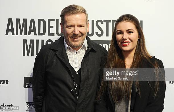 Eberhard Forcher poses for a photograph during the Amadeus Austrian Music Awards 2015 at Volkstheater on March 29 2015 in Vienna Austria