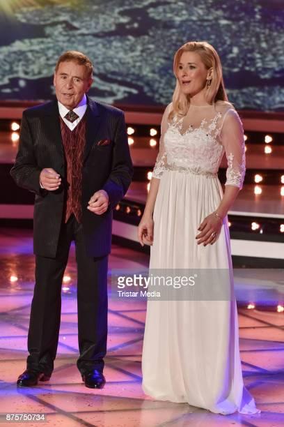 Eberhard Hertel and his daughter Stefanie Hertel perform during the Stefanie Hertel Show 'Die grosse Show der Weihnachtslieder' on November 17 2017...
