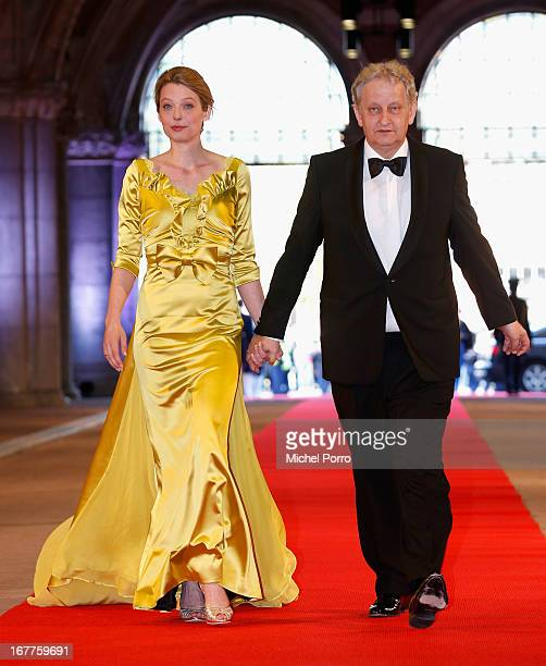 Eberhard van der Laan and his wife attend a dinner hosted by Queen Beatrix of The Netherlands ahead of her abdication in favour of Crown Prince...