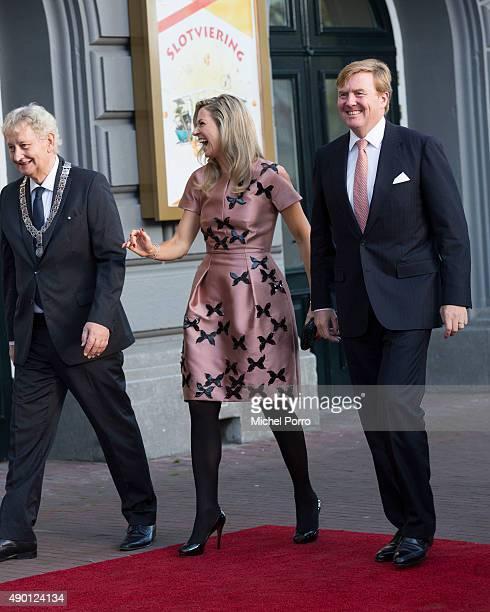 Eberhard van der Laan, Queen Maxima of The Netherlands and King Willem-Alexander of The Netherlands arrive for festivities marking the final...