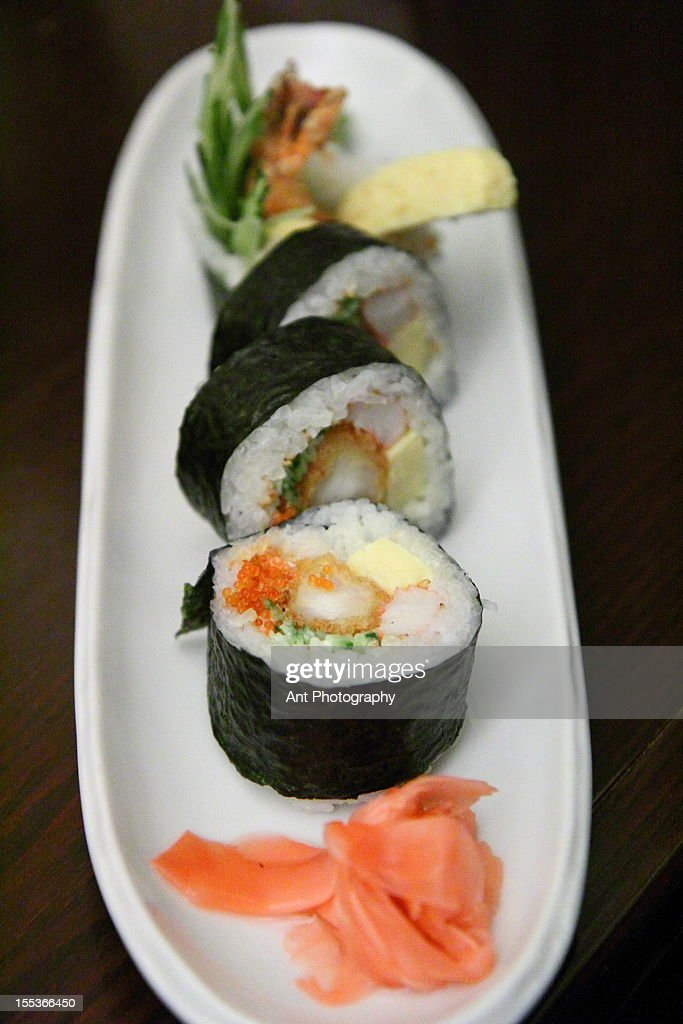 Ebi Sushi Roll Stock Photo Getty Images