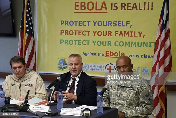 Ebola Disaster Assistance Response Team leader Tim Callaghan Centre for Diseases Control epidemiologist Frank Mahoney and US Major General Darryl...