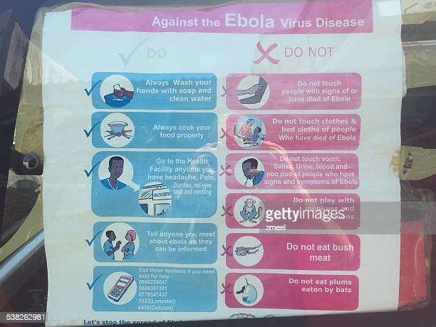 ebola poster - liberia stock pictures, royalty-free photos & images