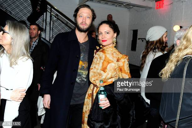 Ebon MossBachrach and Yelena Yemchuk attend Roadside Attractions and Great Point Media with The Cinema Society host a screening of 'The Party' at...